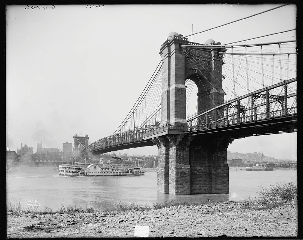 Looking Back at the Building of the Roebling Suspension Bridge ...